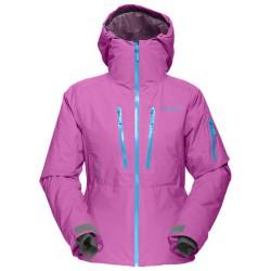 Veste ski freeride Norrona Lofoten Gore-Tex Primaloft Femme violet