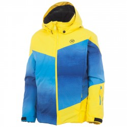 Veste ski Rossignol Matrix Garçon bleu-jaune