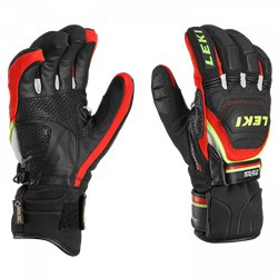 gants ski Leki Worldcup Race Coach Flex GTX noir-rouge