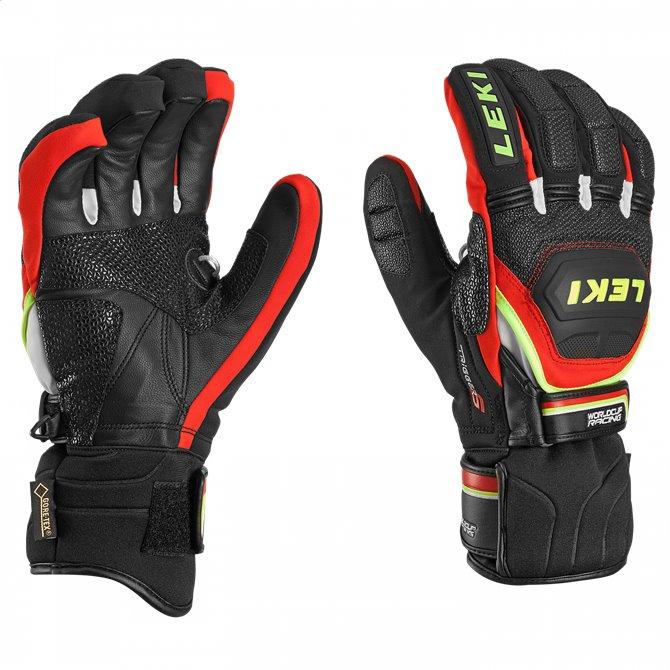 ski gloves Leki Worldcup Race Coach Flex GTX black-red