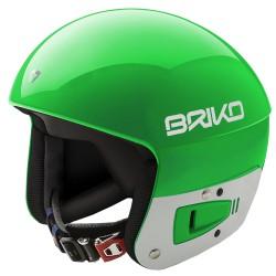 Casque de ski Briko Vulcano Fis 6.8 Junior vert-blanc