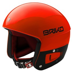 Casque de ski Briko Vulcano Fis 6.8 Junior orange-noir