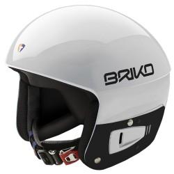 Casco esquì Briko Vulcano Fis 6.8 Junior blanco-negro