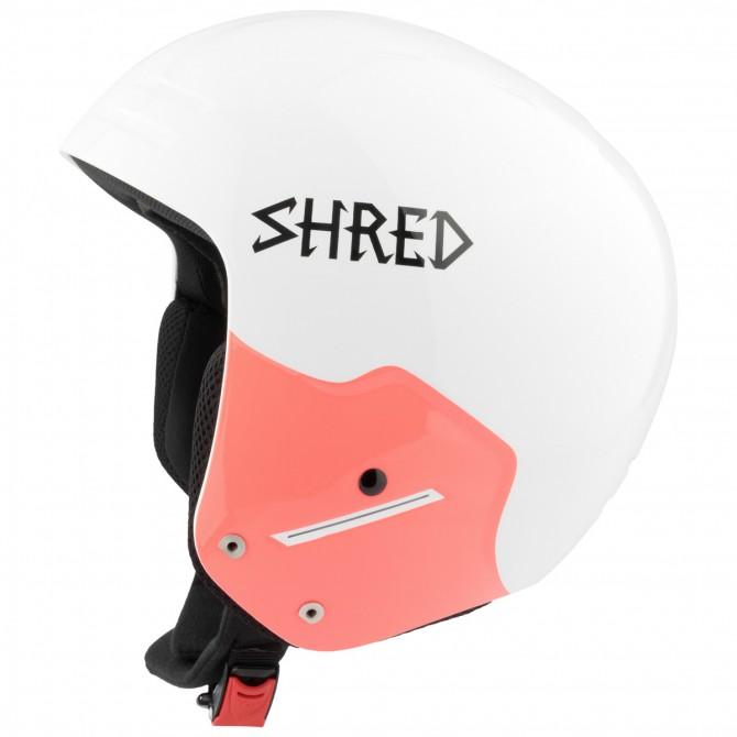 Casco sci Shred Basher Noshock Unisex bianco-rosa