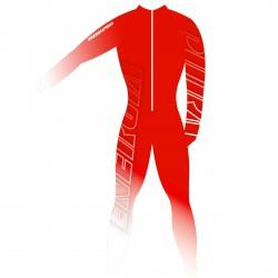 Tuta da gara Energiapura Bold Unisex rosso-bianco