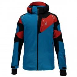 Chaqueta esquí Spyder Leader Hombre azul-negro