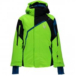 Chaqueta esquí Spyder Challenger Chico verde-negro