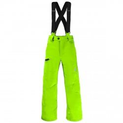 Pantalone sci Spyder Propulsion Bambino verde fluo