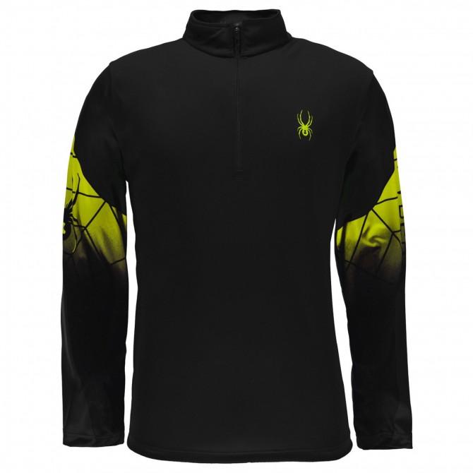 Sottotuta Spyder Webstrong nero-giallo fluo