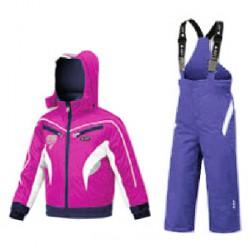 Conjunto esquí Astrolabio YG7H Baby rosa-lila