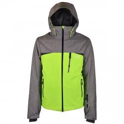 Chaqueta esquí Botteroski Stretch Hombre verde fluo