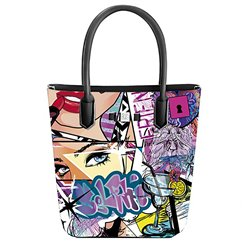Borsa Save My Bag Popstar graffiti