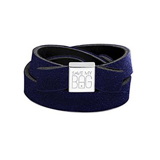 Fiocco Save My Bag Miss velvet blu metallizzato