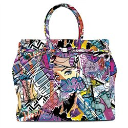 Borsa Save My Bag Miss weekender graffiti
