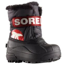 Doposci Sorel Snow Commander Baby grigio-rosso (25-31)