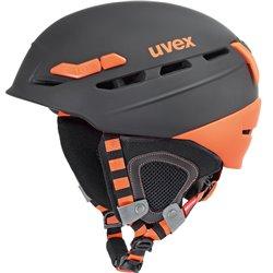 Casco sci Uvex p.8000 tour nero-arancio