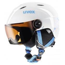 Casco sci Uvex Visor + visiera arancio-nero-azzurro