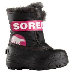 Après-ski Sorel Snow Commander Baby noir-fuchsia (25-31)