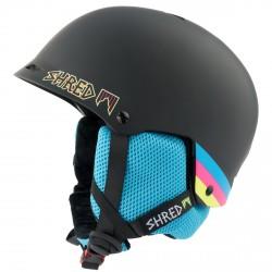 Casco sci Shred Half brain nero-azzurro
