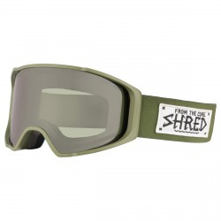 Masque ski Shred Monocle vert militaire