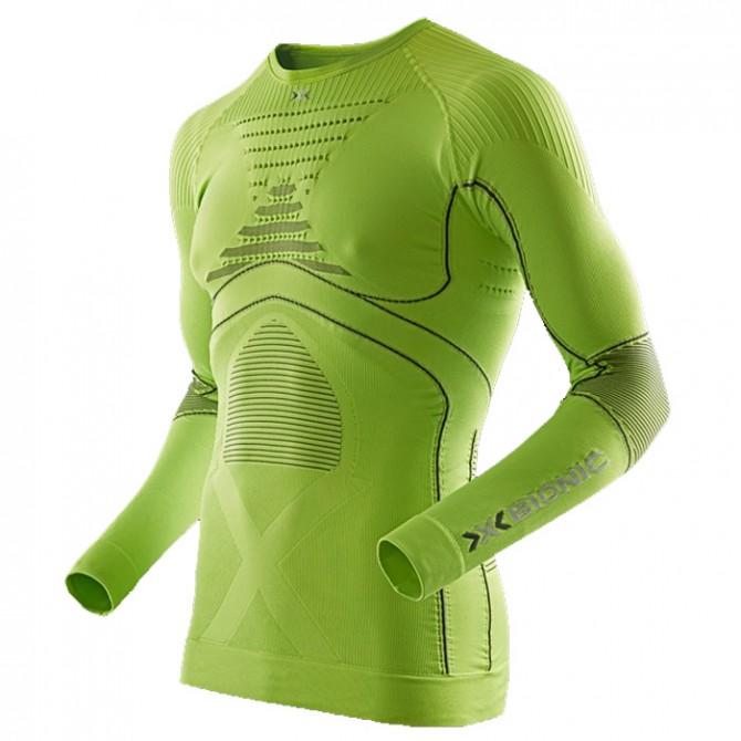 maglia intimo X-Bionic Energy Accumulator Evo Uomo lime-grigio