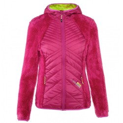 Mountaineering jacket Rock Experience Softy Woman fuchsia