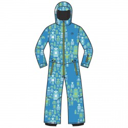 Ski suit Rossignol Mini Baby blue-lime