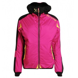 Chaqueta montañismo Rock Experience Eclipse Mujer fucsia