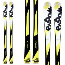 Sci Bottero Ski Bottero Rapitun + attacchi Lrx 9 + piastra Lrx giallo-nero-bianco
