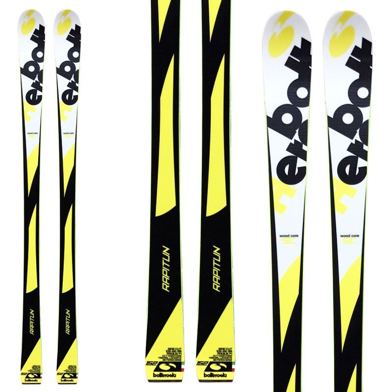 Sci Bottero Ski Bottero Rapitun + attacchi Lrx 9 + piastra Lrx (Colore: giallo-nero-bianco, Taglia: 152)
