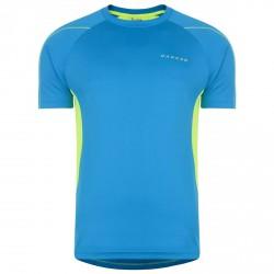 T-shirt running Dare 2b Expolit turchese-giallo fluo