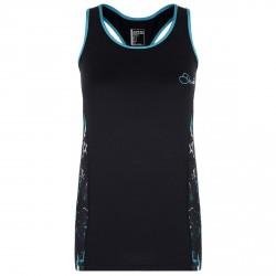 Camiseta running Dare 2b Inflexion Mujer negro-turquesa