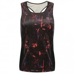 Camiseta running Dare 2b Inflexion Mujer negro-fucsia