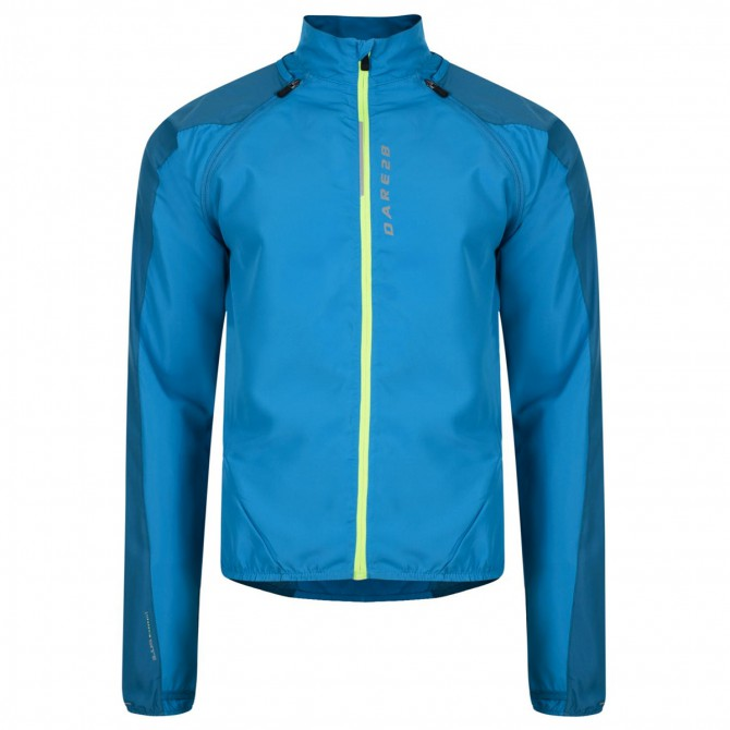 Veste coupe-vent running Dare 2b Unveil Homme turquoise