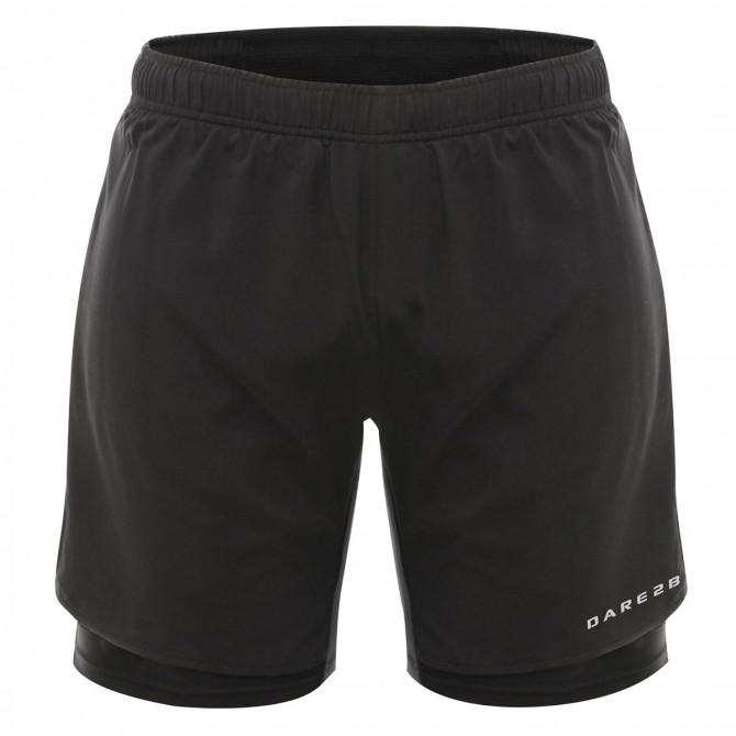 Shorts running Dare 2b Oscillate Uomo nero