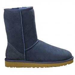 bottes Ugg Classic Short bleu femme