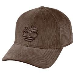 Cappello Timberland Corduroy Tree Logo Uomo marrone