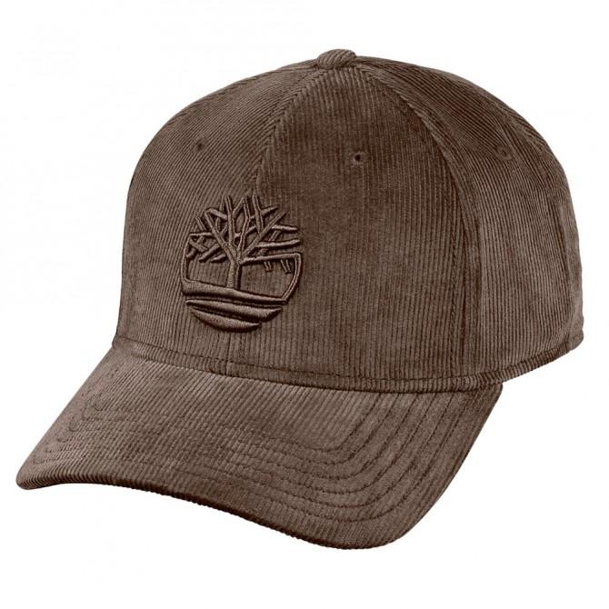 Cappello Timberland Corduroy Tree Logo Uomo marrone TIMBERLAND Cappelli guanti sciarpe