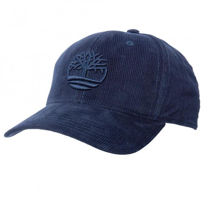 Cappello Timberland Corduroy Tree Logo Uomo blu TIMBERLAND Cappelli guanti sciarpe