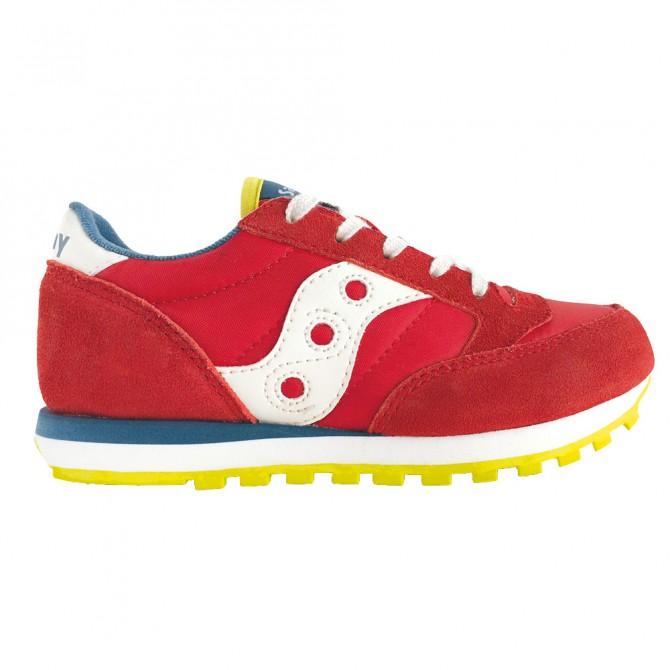 Sneakers Saucony Jazz O' Garçon rouge-bleu-lime (27-35)