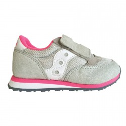 Sneakers Saucony Jazz HL Baby argento-rosa