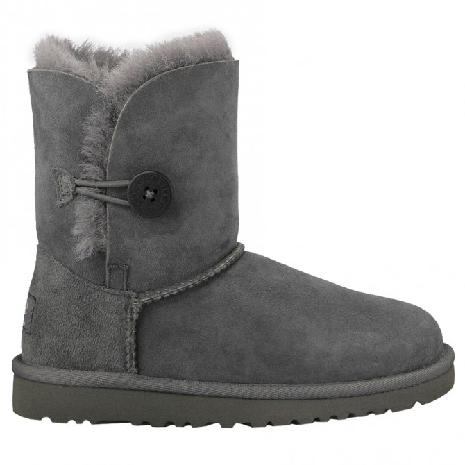 stivale Ugg Bailey Button grigio Girl (30-33)