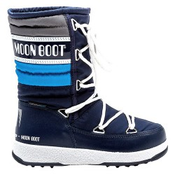 Après ski Moon Boot We Quilted Junior bleu
