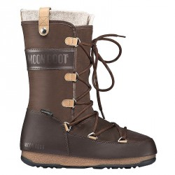 Après ski Moon Boot W.E. Monaco Felt Femme brun