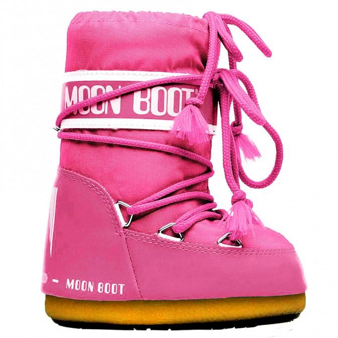 Après ski Moon Boot Nylon Baby fuchsia