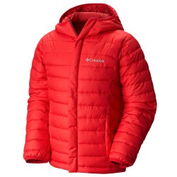 Down jacket Columbia Powder Lite Junior red
