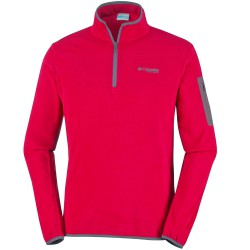 Fleece Columbia Titan Pass 1.0 Half Zip Man red