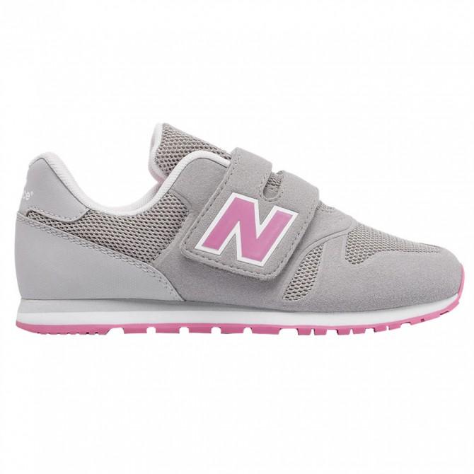 Sneakers New Balance 373 Hook and Loop Girl grigio-rosa NEW BALANCE Scarpe sportive