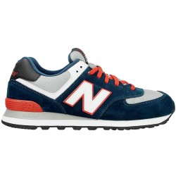 Sneakers New Balance 574 Homme bleu-rouge