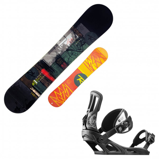 snowboard Rossignol Alias Amptek + attacchi Cage V1 m/l